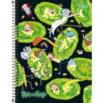 Imagem - Caderno Espiral Capa Dura Universitário 10 Matérias Rick and Morty 160 Folhas - Sortido (Pacote com 4 unidades)...