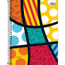 Imagem - Caderno Espiral Capa Dura Universitário 10 Matérias Romero Britto 160 Folhas - Sortido (Pacote com 4 unidades)...