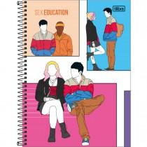 Imagem - Caderno Espiral Capa Dura Universitário 10 Matérias Sex Education 160 Folhas - Sortido