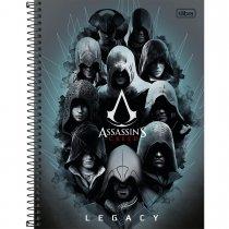 Imagem - Caderno Espiral Capa Dura Universitário 12 Matérias Assassin's Creed 240 Folhas...