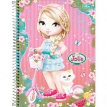 Caderno Espiral Capa Dura Universitário 12 Matérias Jolie 240 Folhas - Sortido (Pacote com 4 unidades)