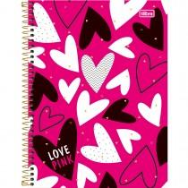 Imagem - Caderno Espiral Capa Dura Universitário 12 Matérias Love Pink - 240 Folhas - Sortido