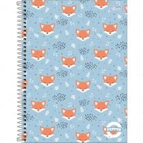Imagem - Caderno Espiral Capa Dura Universitário 12 Matérias Pepper Feminino 192 Folhas ...