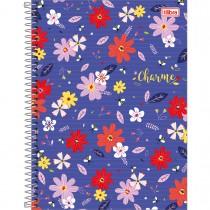 Imagem - Caderno Espiral Capa Dura Universitário 16 Matérias Charme 256 Folhas - Sortido