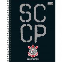 Imagem - Caderno Espiral Capa Dura Universitário 16 Matérias Clube de Futebol Corinthians 256 Folhas - Sortido (Pacote com 2 unidades)...
