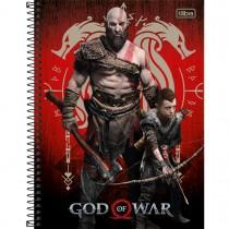 Imagem - Caderno Espiral Capa Dura Universitário 16 Matérias God of War 256 Folhas - Sortido