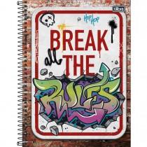 Imagem - Caderno Espiral Capa Dura Universitário 16 Matérias Graffiti 256 Folhas - Sortido