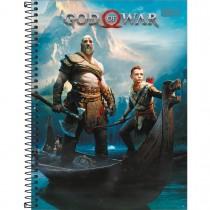 Imagem - Caderno Espiral Capa Dura Universitário 20 Matérias God of War 400 Folhas - Sortido