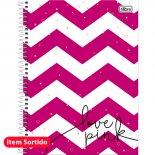 Imagem - Caderno Espiral Capa Dura Universitário 20 Matérias Love Pink 400 Folhas - Sortido