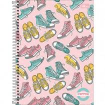Imagem - Caderno Espiral Capa Dura Universitário 20 Matérias Pepper Feminino 320 Folhas - Sortido