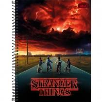 Imagem - Caderno Espiral Capa Dura Universitário Stranger Things 80 Folhas - Sortido