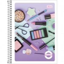 Imagem - Caderno Espiral Capa Flexível Universitário 10 Matérias Pepper Feminino 160 Folhas - Sortido (Pacote com 5 unidades)...
