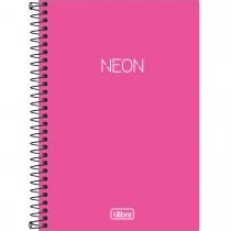 Imagem - Caderno Espiral Capa Plástica 1/4 Neon 80 Folhas (Pacote com 4 unidades) - Sortido