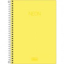 Imagem - Caderno Espiral Capa Plástica 1/4 Neon Amarelo 80 Folhas