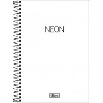 Imagem - Caderno Espiral Capa Plástica 1/4 Neon Branco 80 Folhas