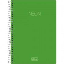 Imagem - Caderno Espiral Capa Plástica 1/4 Neon Verde 80 Folhas