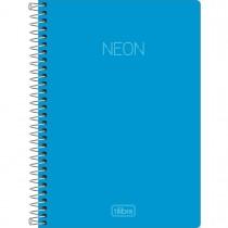 Imagem - Caderno Espiral Capa Plástica 1/4 sem Pauta Neon 80 Folhas (Pacote com 4 unidades) - Sortido