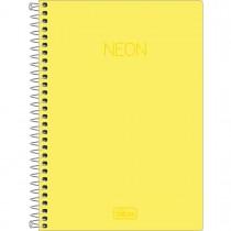Imagem - Caderno Espiral Capa Plástica 1/4 sem Pauta Neon Amarelo 80 Folhas