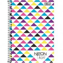 Imagem - Caderno Espiral Capa Plástica 1/4 Sem Pauta Neon Kori 96 Folhas