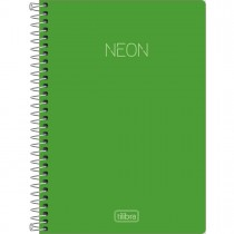 Imagem - Caderno Espiral Capa Plástica 1/4 sem Pauta Neon Verde 80 Folhas
