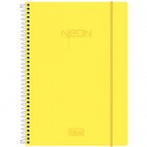 Imagem - Caderno Espiral Capa Plástica Universitário 1 Matéria Neon Amarelo 96 Folhas
