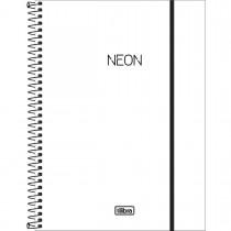 Imagem - Caderno Espiral Capa Plástica Universitário 1 Matéria Neon Branco 80 Folhas