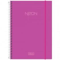 Imagem - Caderno Espiral Capa Plástica Universitário 1 Matéria Neon Rosa 96 Folhas