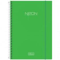 Imagem - Caderno Espiral Capa Plástica Universitário 1 Matéria Neon Verde 96 Folhas