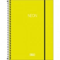 Imagem - Caderno Espiral Capa Plástica Universitário 1 Matéria Neon Verde-Limão 80 Folhas