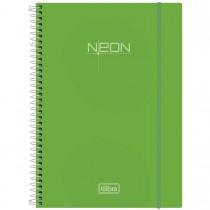 Imagem - Caderno Espiral Capa Plástica Universitário 10 Matérias Neon Verde 200 Folhas