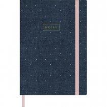 Imagem - Caderno Executivo Costurado Médio sem Pauta Cambridge Denim - 80 Folhas