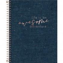 Imagem - Caderno Executivo Espiral Capa Dura Colegial Cambridge Denim 80 Folhas (Pacote com 4 unidades)