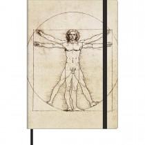 Imagem - Caderno Executivo sem Pauta Costurado Capa Dura Médio Cambridge Vitruviano 78 Folhas