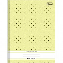 Imagem - Caderno Quadriculado 1x1 cm  Brochura Capa Dura Académie Feminino 40 Folhas - Sortido (Pacote com 10 unidades)...