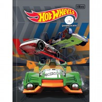 Imagem - Caderno Quadriculado 1x1 cm Brochura Capa Dura Hot Wheels 40 Folhas (Pacote com 5 unidades) - Sortido...