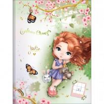 Imagem - Caderno Quadriculado 1x1 cm Brochura Capa Dura Jolie 40 Folhas (Pacote com 5 unidades) - Sortido