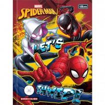 Imagem - Caderno Quadriculado 1x1 cm Brochura Capa Dura Spider-Man 40 Folhas - Sortido (Pacote com 5 unidades)...