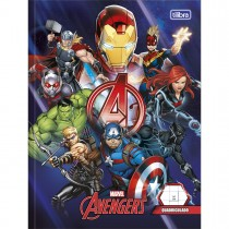Imagem - Caderno Quadriculado 1x1cm Brochura Capa Dura Avengers 40 Folhas (Pacote com 5 unidades) - Sortido