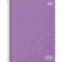 Imagem - Caderno Quadriculado 7x7 mm Espiral Capa Dura Universitário Lunix 80 Folhas (Pacote com 4 unidades) - Sortido...