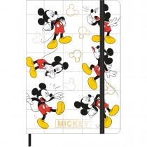 Caderno sem Pauta Costurado Capa Dura Fitto M Mickey 80 Folhas