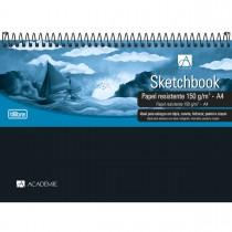 Imagem - Caderno Sketchbook Espiral Capa Plástica A4 Académie 50 Folhas