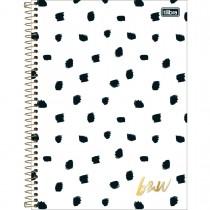Imagem - Caderno Universitário B&W 10 Matérias 160 Folhas - Sortido (Pacote com 4 unidades)