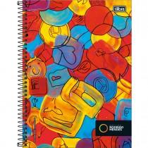 Imagem - Caderno Universitário CD Rodrigo Mendes 1M 80fls - Sortido