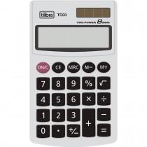 Imagem - Calculadora de Bolso 8 Dígitos Grande TC03 Branca