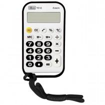 Imagem - Calculadora de Bolso 8 Dígitos Média TC12 Branca