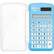 Imagem - Calculadora de Bolso 8 Dígitos Pequena TC21 Azul
