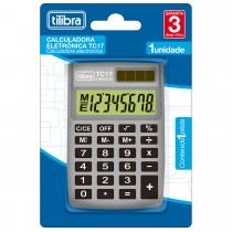 Imagem - Calculadora de Bolso 8 Dígitos TC17 Cinza