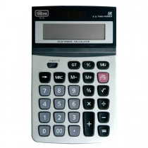 Imagem - Calculadora de Mesa 12 Dígitos Grande Aço Escovado TC10 Cinza
