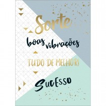 Imagem - CARTÃO BY GRAFON´S SEM TEXTO ESTAMPA Sorte, Boas Vibrações, tudo de melhor, sucesso