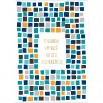 Imagem - CARTÃO BY GRAFON'S ANIVERSÁRIO ESTAMPA azulejos azuis